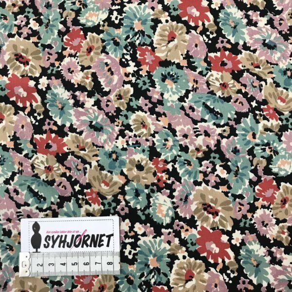 Bomuld vævet med blomstret print fra Italiensk modehus