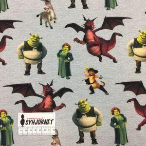 Bomuldsjersey Shrek økotex 100