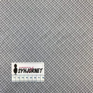 Bomuld grå med diagonale tern