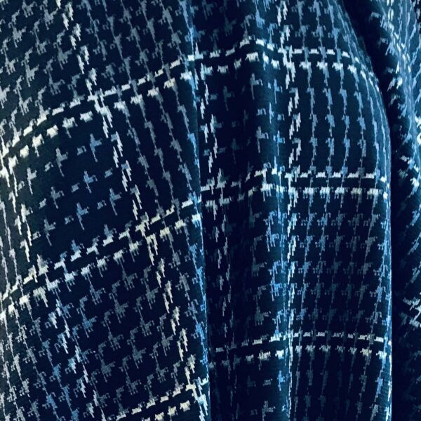 vinterjersey blå tern draperet