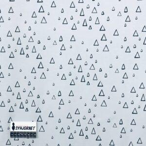 Bomuldsjersey lyseblå med trekanter