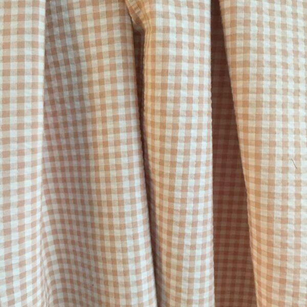 Bomuld-polyester bæk og bølge i rosa tern