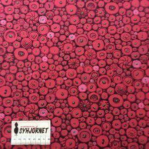 Kaffe Fassett lækker vævet bomuld med mørk pink knapper økotex 100