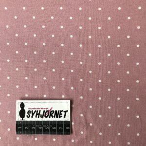 bomuldsjersey rosa med hvide prikker