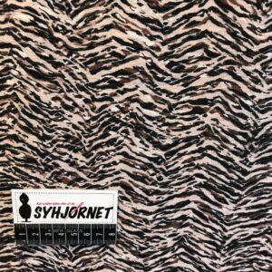 Viskose og polyamid crepe vævet med print