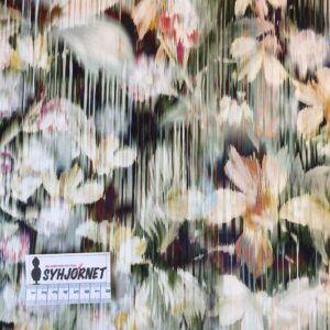 Bomuld med lidt lycra aguarell blomster