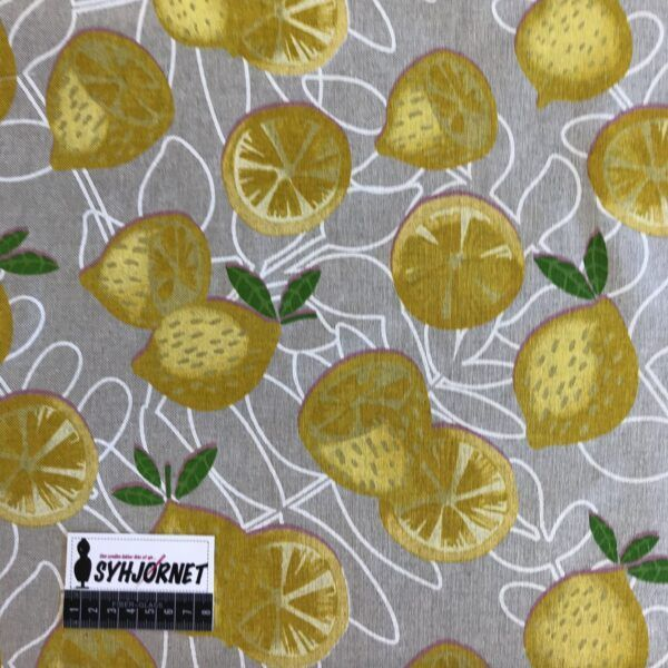 kraftig lærred med citroner