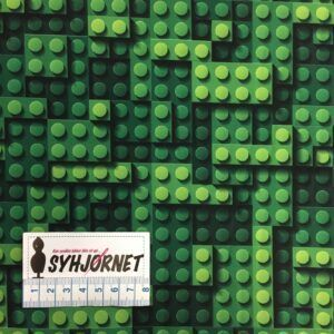 Softshell legoklodser i grønne farver