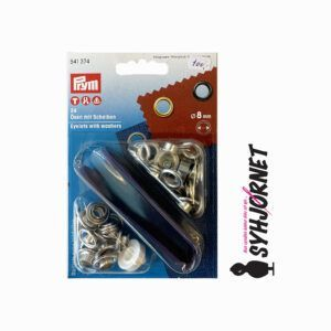 Sejlring-snørering sølv 8 mm værktøj 541374