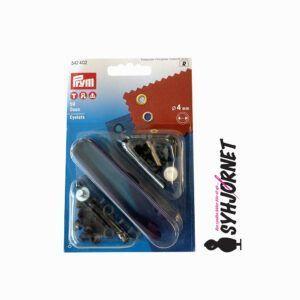 Sejlring-snørering sort 4 mm med værktøj