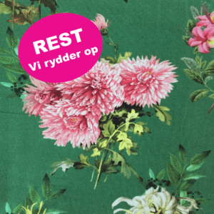 bomuldsjersey grøn med blomster REST