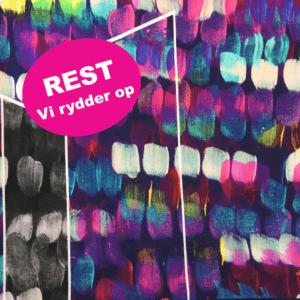 Viskosejersey med malerklatter som en rapport REST