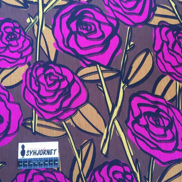 Chiffon brun bund med pink blomster