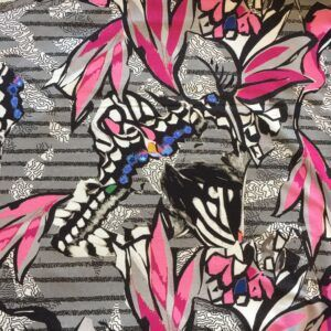 Viskosejersey med store sommerfugle REST
