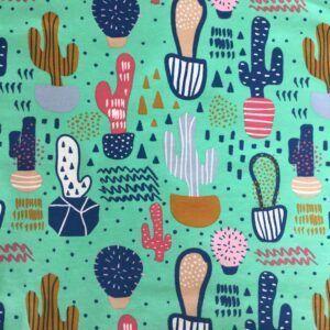 Bomuldsjersey med kaktusser REST