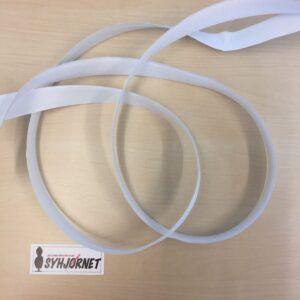 Velcro hvid der er selvklæbende 2 cm bred