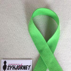 Gjorde bånd grøn i bomuld 3 cm bredt