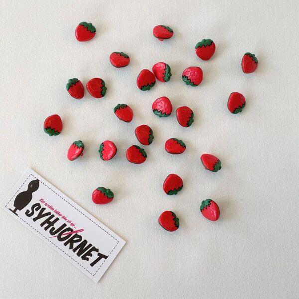 Jordbær knap