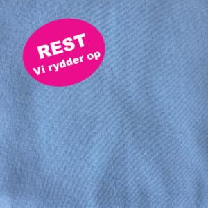 Bomuld strikket i blå i kraftig kvalitet REST