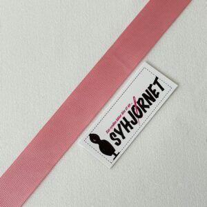 Grosgrain bånd lyserød 25 mm bred
