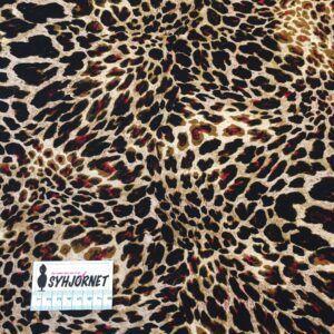 Vinterjersey af viskose og polyester med lidt lycra med dyreprint