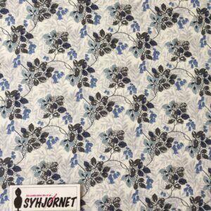 Liberty ranker med blålige blomster og blade økotex 100