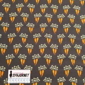 Bomuldsjersey med gulerødder økotex 100