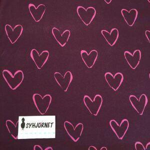 Isoli lilla med pink hjerter økotex 100