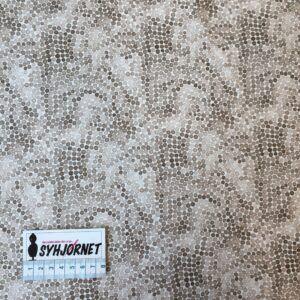 bomuldsjersey med pletter i beige og brune nuancer økotex 100