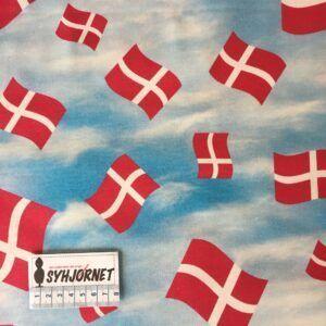 Bomuld vævet med flag på blå himmel, økotex 100