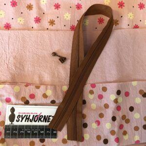 Sy-kit til projekttaske rosa med brun