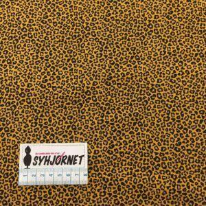 Bomuldsjersey leopardprint i okker