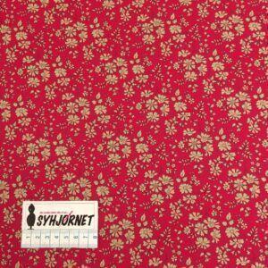 Liberty rød med beige blomster, økotex 100